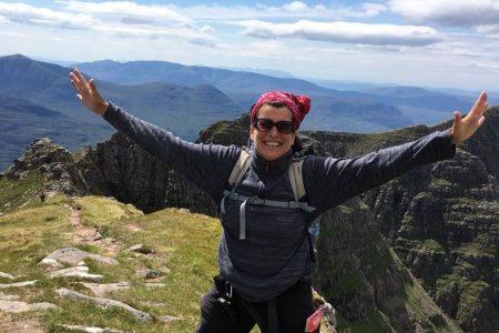 Wanderleiterin Doris Dietrich leitet vor allem unsere Wanderreisen in Schottland.