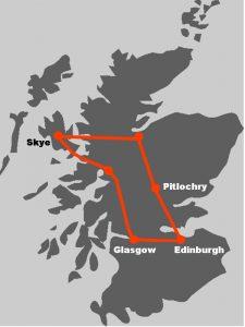 Hier koennen Sie die Route unserer Wander-Bahnreise auf der Karte verfolgen.