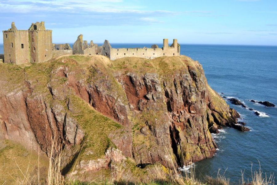 Das Dunnottar Castle ist teil unserer Segelreise an der schottischen Ostkueste.